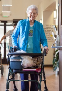 Senior resident of the Nehalem Valley Care Center